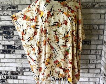 Tunic Plus Size Rayon Fabric