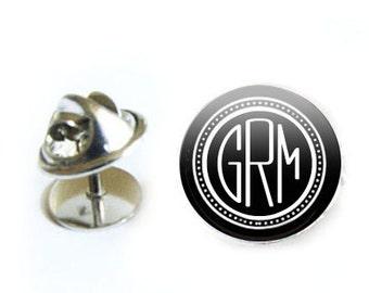 Monogram Tie Tack, Tie Pin, Lapel Pin, Personalized Tie Tack, Personalized Pin, Personalized Jewelry