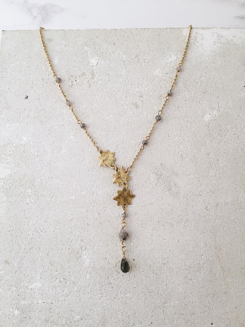 Three Stars constellation necklace Northern star necklace image 0