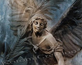 "Photographic painting print ""Angel Gloriana"" 30x20cm"