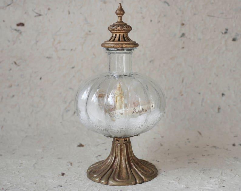 Bottle landscape Relic-80 Our Lady/'s reliquary objet d/'art -