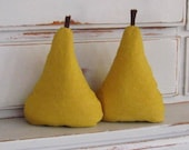 SALE pear pair in mustard UNFILLED