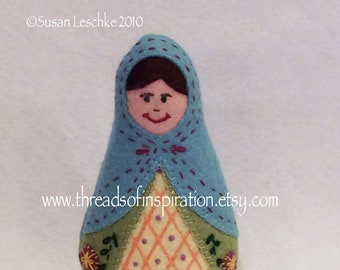 Sasha, Matryoshka Doll, PDF Pattern, Instant Download, Cloth Doll Pattern, PDF Sewing Tutorial, Babushka Doll Pattern, Softie Pattern