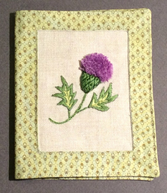 Scottish Thistle Needle Book Stumpwork Embroidery Pdf Pattern Instant Download Needle Case Hand Embroidery Pdf Pattern Sewing Gift
