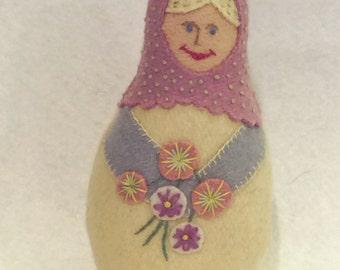 Anya, Matryoshka Doll, PDF Pattern, Instant Download, Cloth Doll Pattern, PDF Sewing Tutorial, Babushka Doll Pattern, Softie Pattern