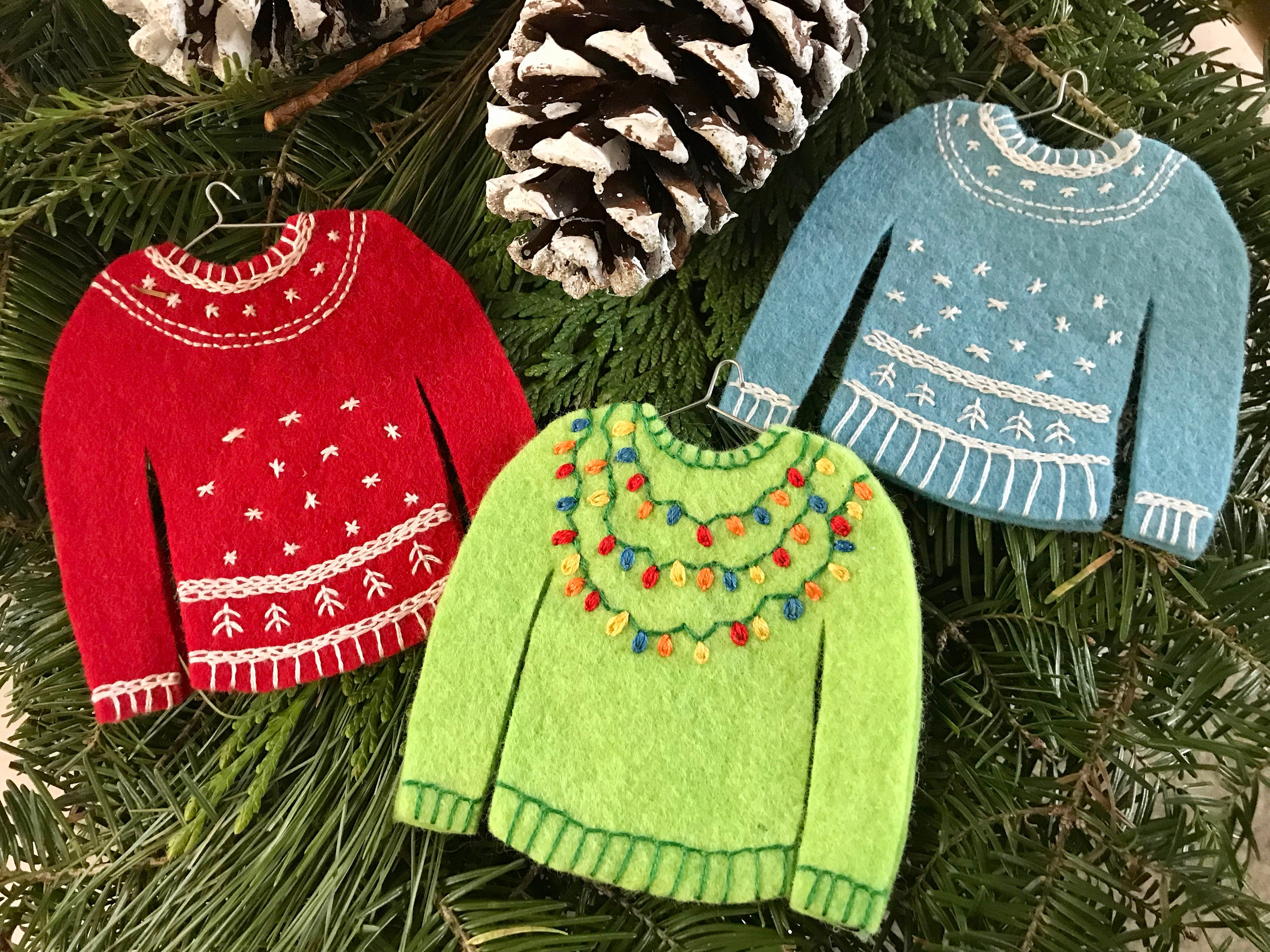 Christmas Sweater Ornaments/Ugly Sweater/Nordic Sweater ...