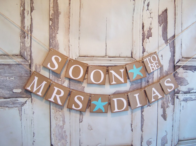 bridal shower decor personalized name banner, Wedding banner bridal shower banner wedding signs bride to be decor soon to be mrs