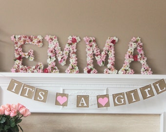 It's a Girl baby shower banner, baby shower sign, baby shower, baby shower decoration,baby shower sign, baby shower decor, baby girl