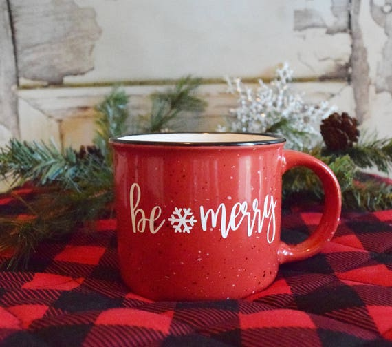 Be merry Campfire Mug, Christmas gift, Christmas Mug, Holiday mug, Campfire Mug, teachers gift, Gift for Her, Coffee mug, Be Merry mug