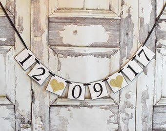 Save the Date banner, wedding banner, wedding date banner, CUSTOM COLORS, wedding banner, photo prop, engagement photo, save the date