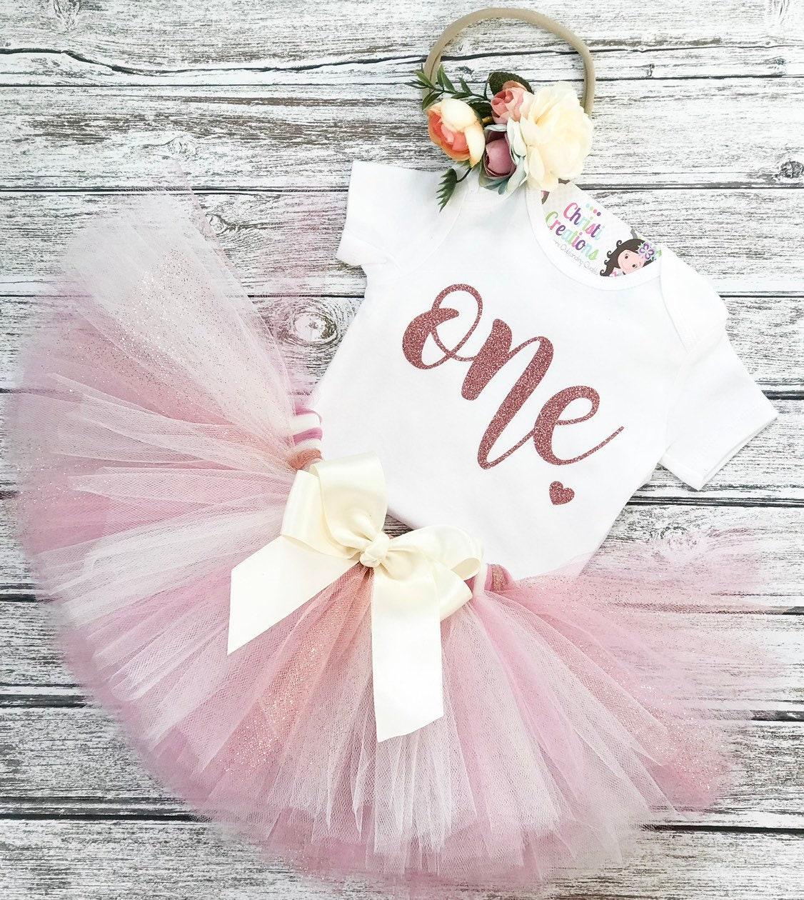BABY GIRLS WHITE PINK ROSE PEPLUM TULLE TUTU BODYSUIT 0-12 MONTHS