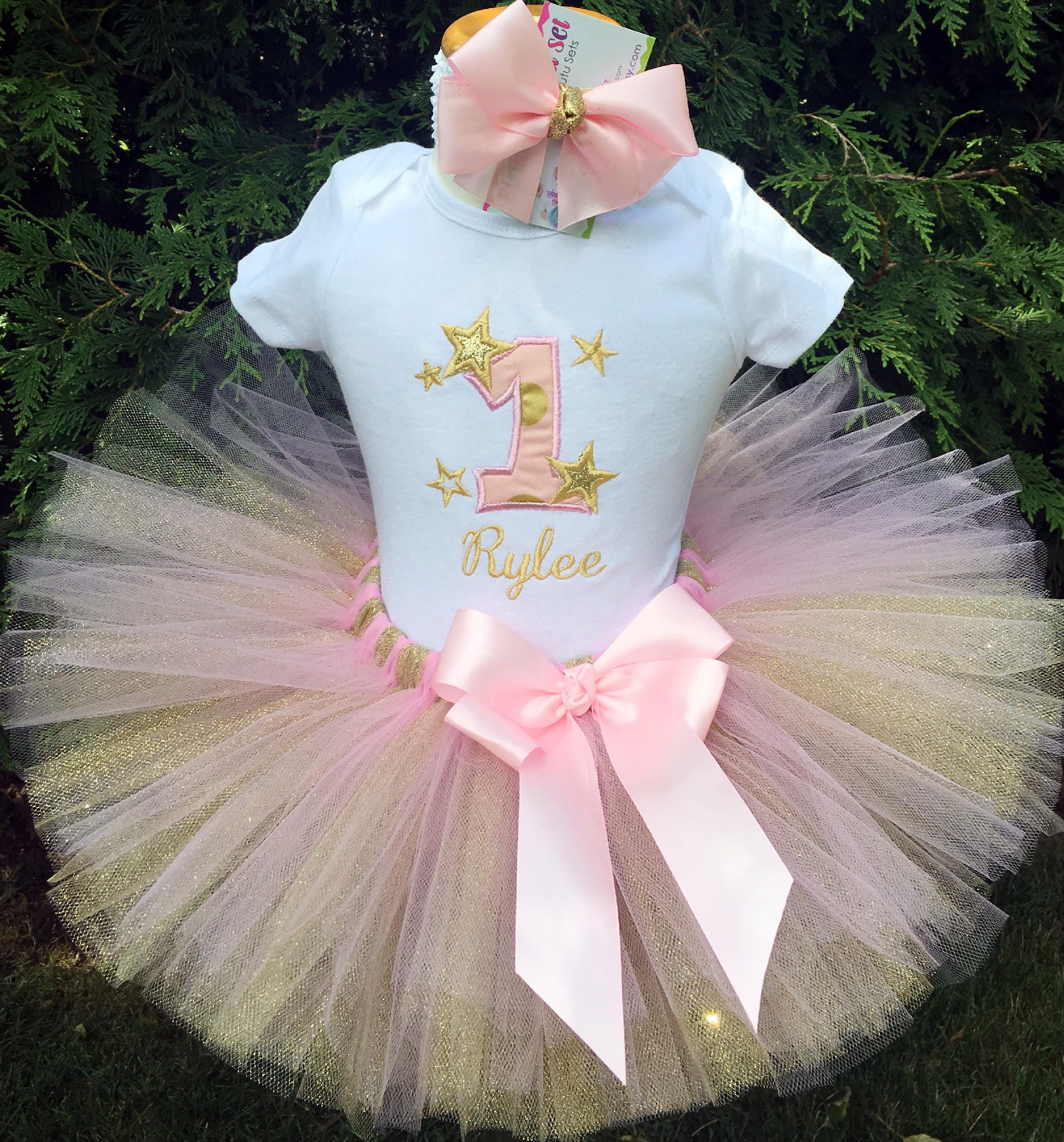 Baby Girl Birthday Outfit Twinkle Twinkle Little Star Tutu | Etsy
