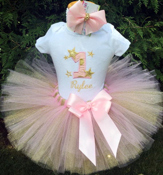 One Year Old Girl Birthday Outfit 1st Gift Niece