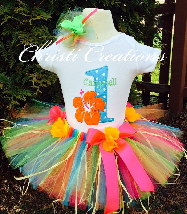 e26b321e4421 Baby Luau Outfits Luau Birthday Luau Dress Luau Outfit | Etsy