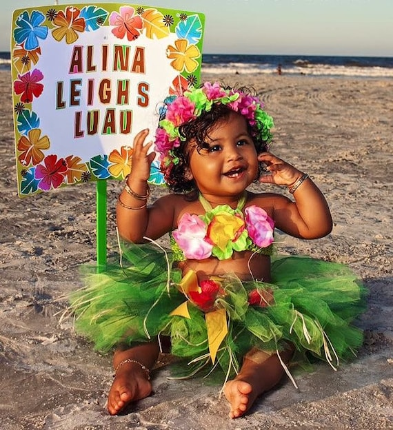 birthday luau outfit baby girl 1st birthday outfit etsy