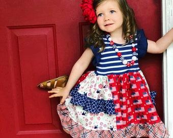 American Flag Dresses for Girls