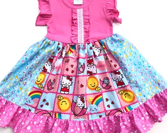 4a98f0911 Hello Kitty dress girls pink Hello Kitty birthday dress Hello Kitty outfit  toddler Hello Kitty clothes size 12 2 3 4 5 6 7 8 10 12