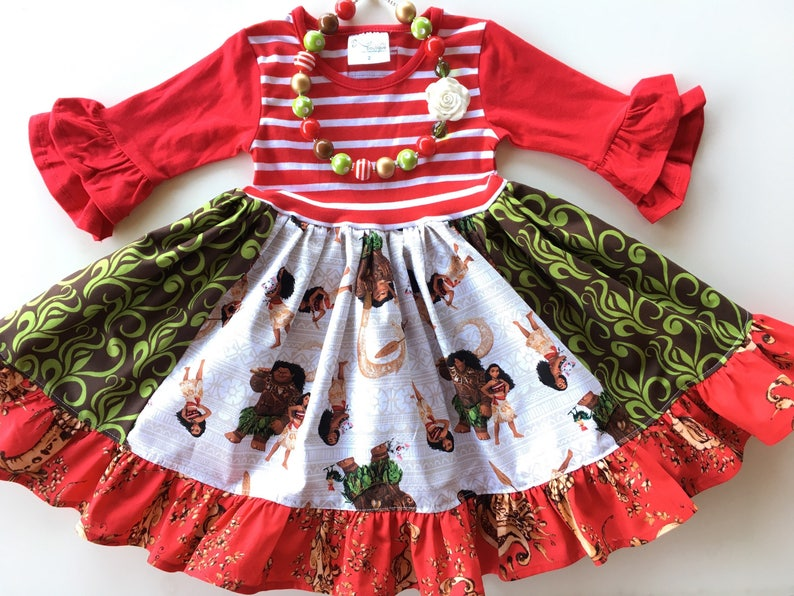 166f279643dd Moana dress Disney Princess dress Christmas dress Princess | Etsy