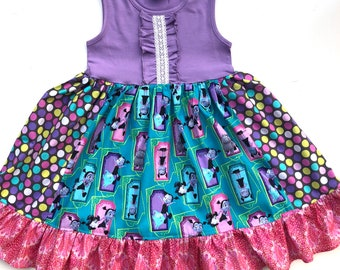 Vampirina Disney dress, Halloween Vampirina birthday party dress, Disney junior dress, Disney Jr. vacation girls toddler Disney dress
