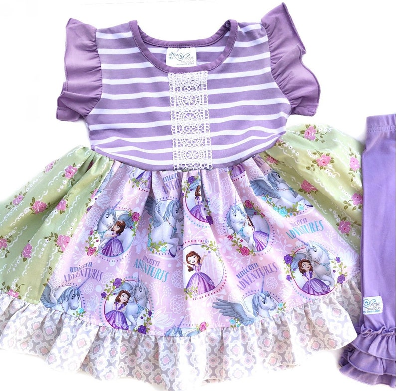 eecc122db7ba Sofia the First dress girls toddler Disney junior Sophia | Etsy