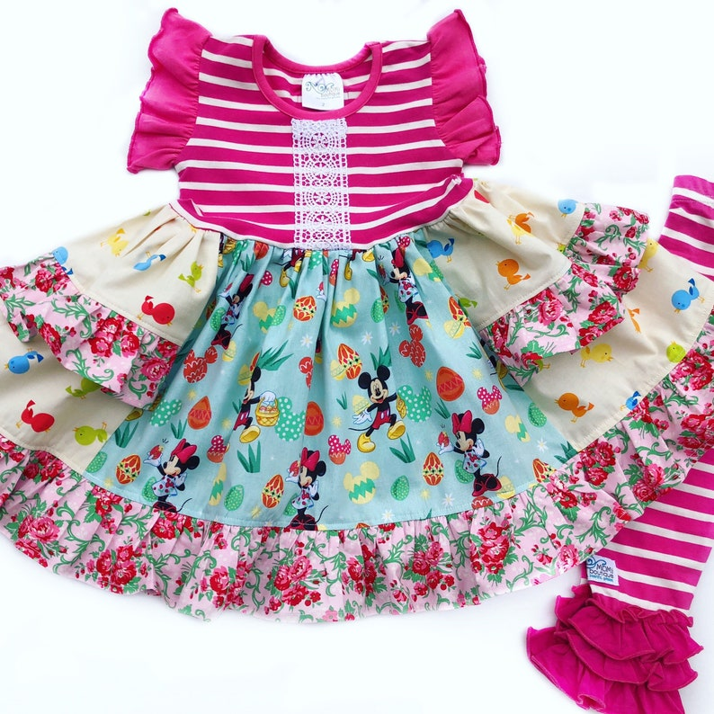 Disney spring dress, girls Easter dresses, Disney outfit, girls Minnie  mouse dress Disney toddler Easter dress 12 18 2 3 4 5 6 7 8 10 12