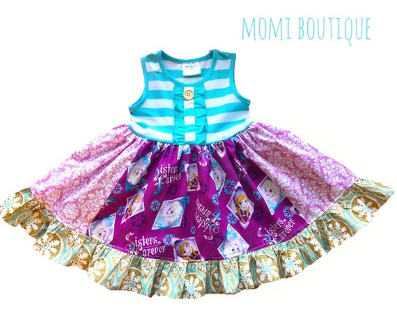 cee954b0f155 Girl Disney Frozen dress Girls Ana Elsa dress Frozen on