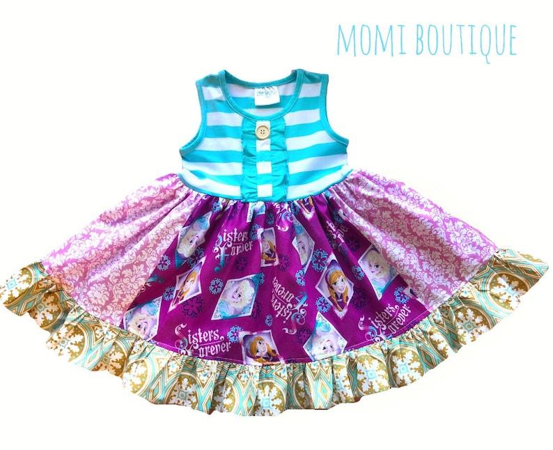 9defc1d2c0ca Girl Disney Frozen dress Girls Ana Elsa dress Frozen on