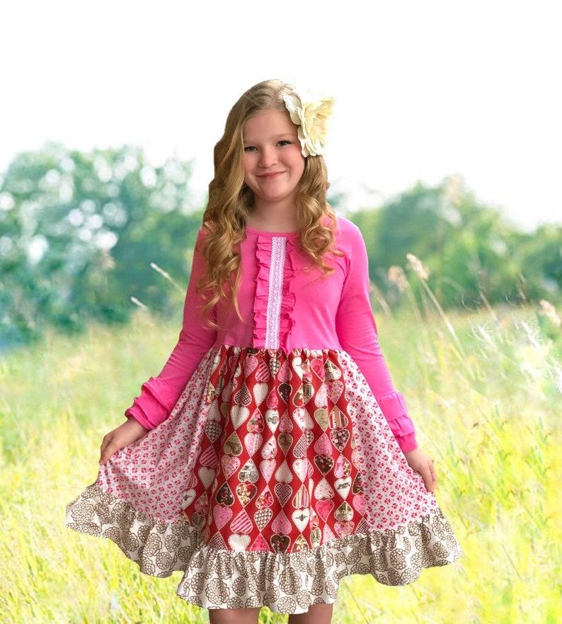 0937db91c67640 Girl Valentine's Day dress toddler valentine dress outfit | Etsy