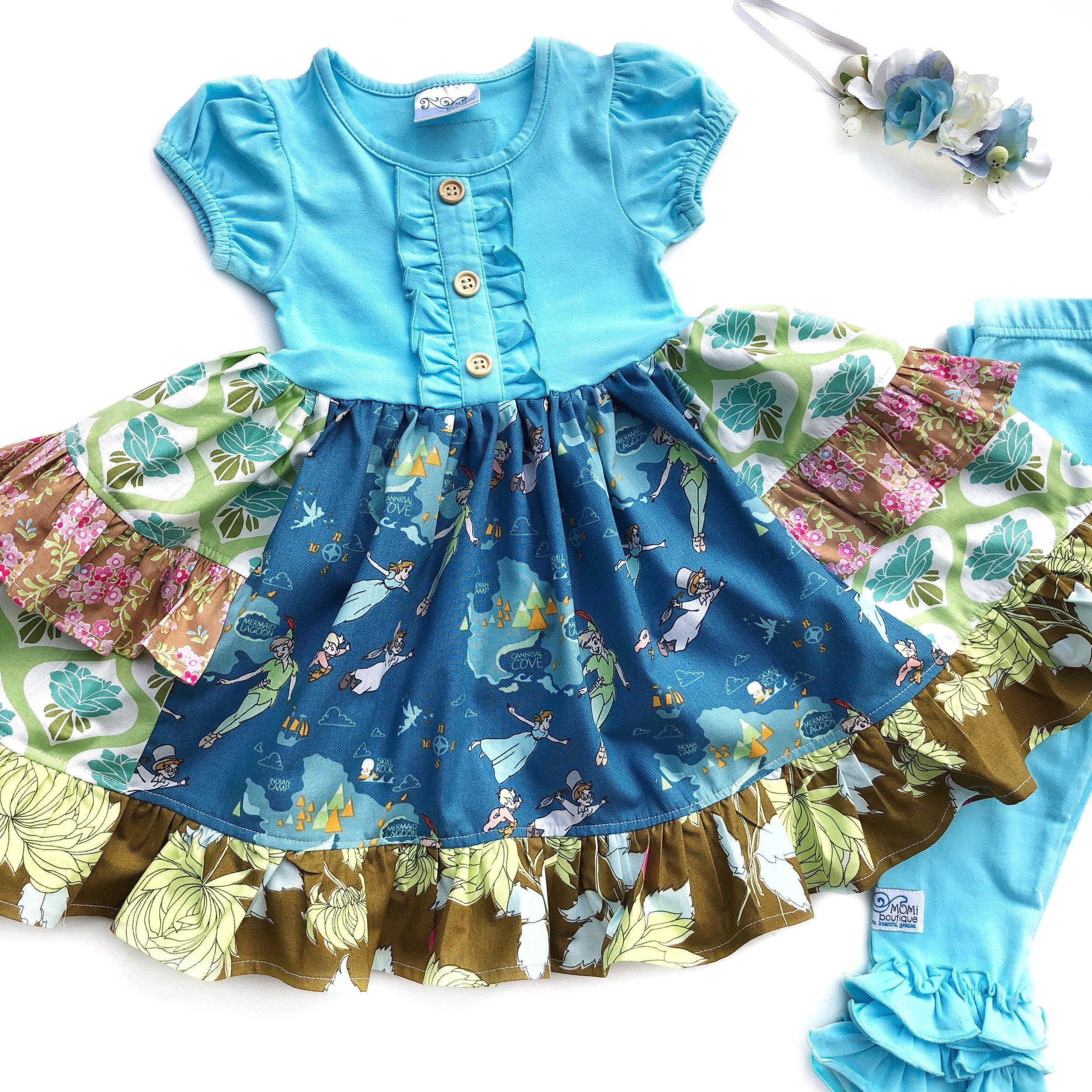 b4d23d242ce7 Peter Pan dress Tinkerbell Disney dress girls dresses for