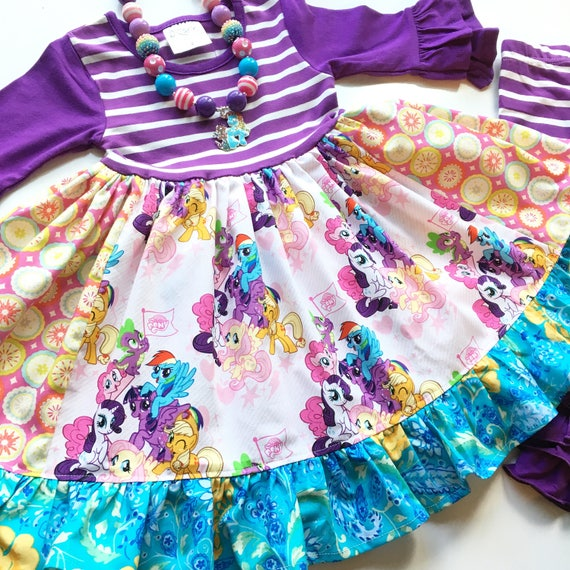 cb51d689b1c6 My Little Pony dress MLP dress Hasboro Raibow Dash Pinky Pie | Etsy