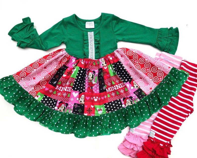 Minnie Mouse Christmas Dress.Disney Minnie Mouse Christmas Dress Girls Minnie Mouse Holiday Dress Disney Outfit Dresses For Disney Christmas Outfit Gifts For Girls
