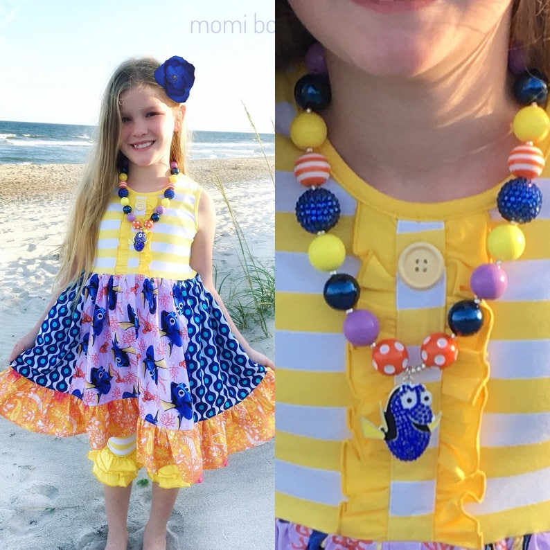 885e920e13a9 Finding Dory dress Disney world outfit toddler Disney clothing | Etsy