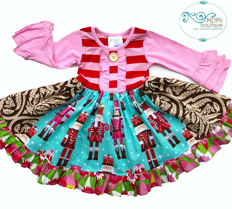 c45e229155ea Nutcracker dress girls toddler holiday portrait dress | Etsy