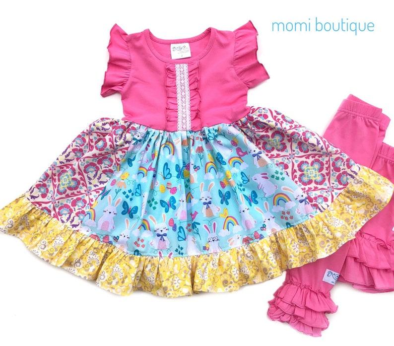 3bd0b9475e88f9 Girls Easter dress Bunny dress girls Spring dress Easter | Etsy