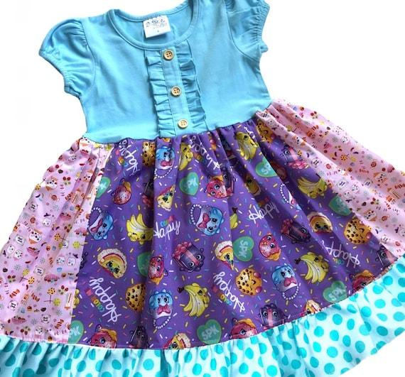 shopkins dress birthday party boutique dress girls toddler
