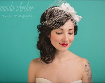 Birdcage Veil, Bridal Veil, Wedding Veil, Bridal Headpiece, Wedding Hairpiece, Hair Accessories, Wedding Hair Comb, Hair Comb, Blusher Veil