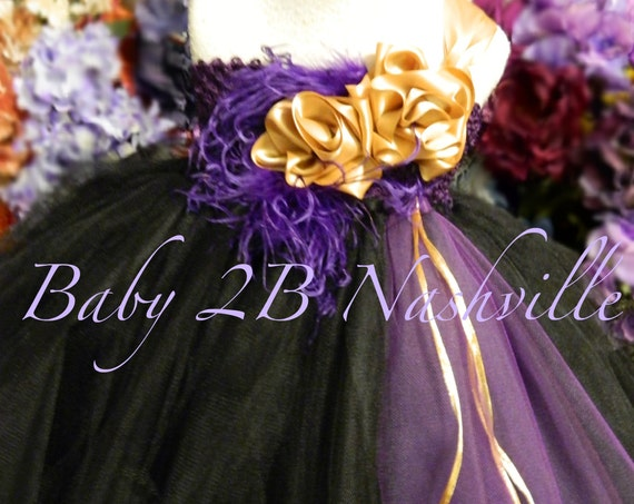 Gold Flower Girl Dress Tulle Dress Tutu Dress Black Dress Purple Baby Dress Toddler Dress Wedding Dress Party Dress Plum Baby Dress