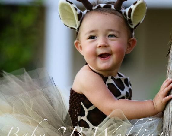 Baby Giraffe Costume Tutu Costume Baby Costume Giraffe Tutu Brown Safari Giraffe Tutu Costume Baby Giraffe Costume Top and Tutu ONLY