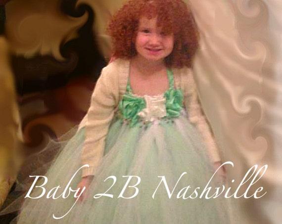 Mint Wedding Dress Flower Girl Dress White Dress Mint Dress Tulle Dress Toddler Dress Tutu Dress Mint Baby Dress Baby Tutu Dress Girl Dress