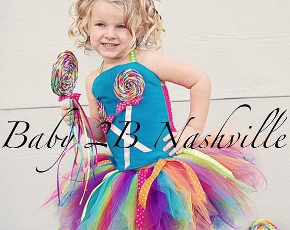 Candyland Costume Tutu,  Lollipop Costume Set, Candy Costume, Birthday Dress