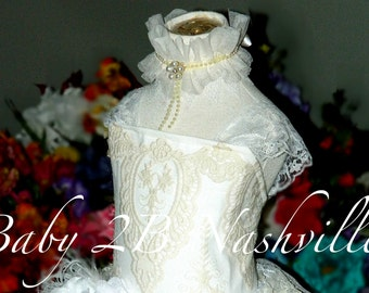 White Lace Dress Flower Girl Dress Ivory Dress White Dress Tulle Dress Party Dress Birthday Dress Toddler Tutu Dress Girls Dress