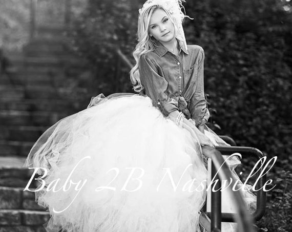 Bridal Skirt White Wedding Tutu Women's Full Length Ballroom Style White Bridal Tulle Skirt Wedding Dresses and Separates Tulle Dress Skirt