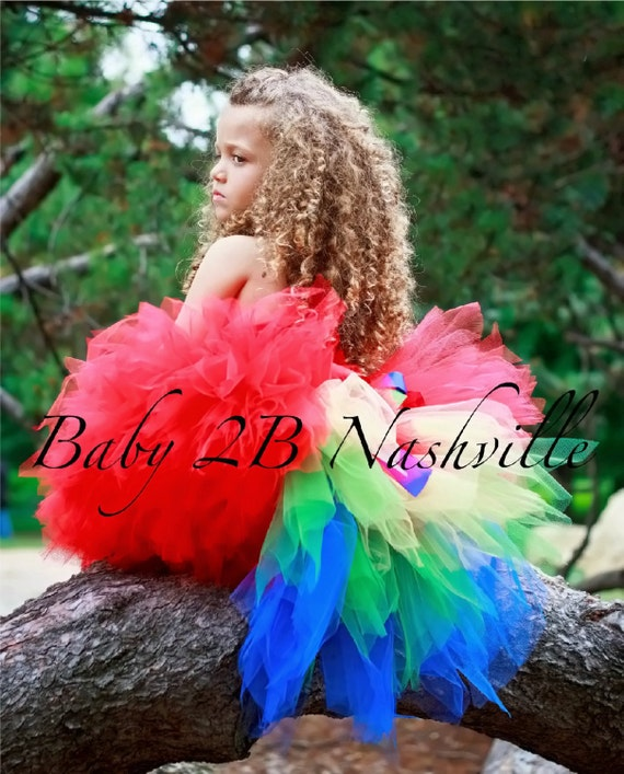 Parrot Costume Tutu for Toddler Girls Tutu Only