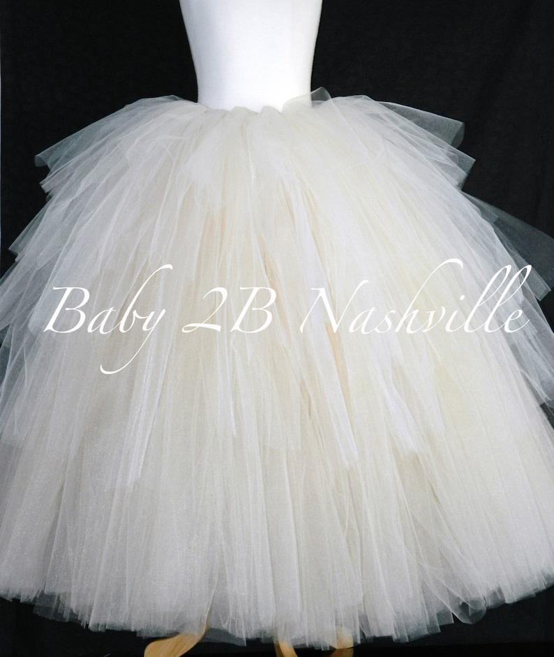 Bridal Skirt Ruffled Skirt Ombre Skirt Wedding Dress Skirt Ivory Skirt Tulle Skirt Nude Skirt Warm Cream Skirt Bridal Tutu Layered Tutu