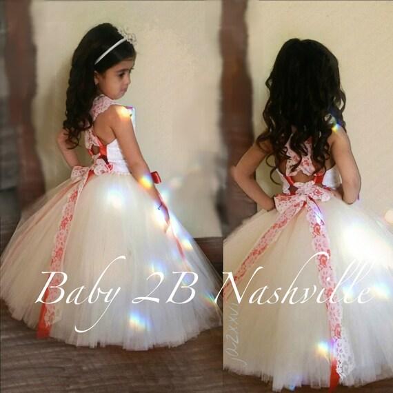 Vintage Dress Wedding Dress Flower Girl Dress  Ivory Dress Coral Dress  Girls Tulle Dress Toddler Tutu Dress Baby Dress Lace Dress