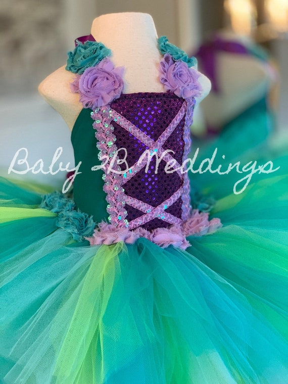 Girls Mermaid Costume Ariel Style Costume Princess Costume Tutu Costume Costume Dress Toddler Costume Princess Costume Baby Costume Kids