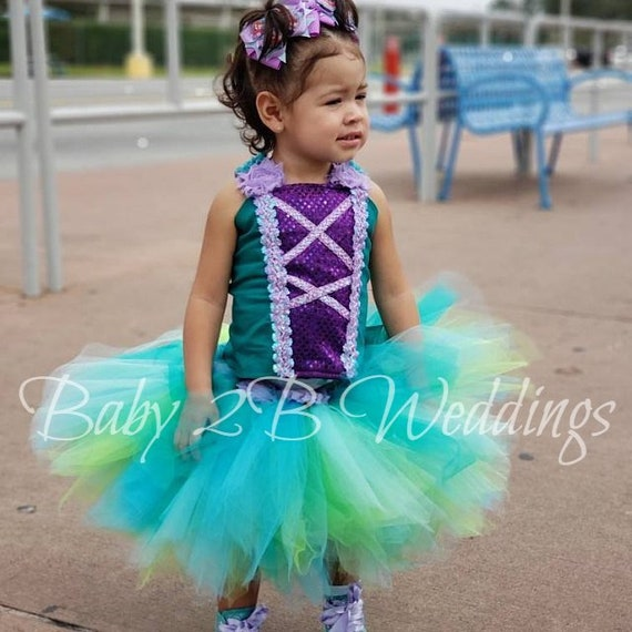 Girls Mermaid Costume Ariel Style Costume Princess Costume Tutu Dress