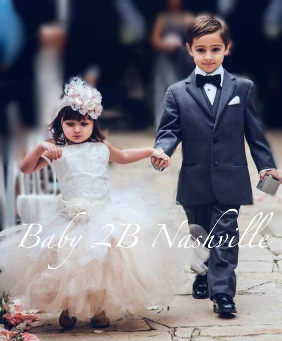 Ivory Dress Lace Dress Satin Dress  Flower Girl  Dress Tulle Tutu Dress Wedding Dress Party Dress Baby Dress Toddler Dress Girls Dress