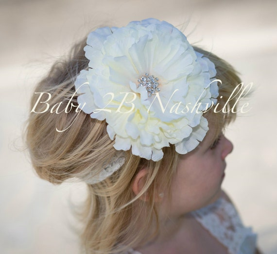 Ivory Rose Matching flower hair piece for Lace Dress Wedding Accessories