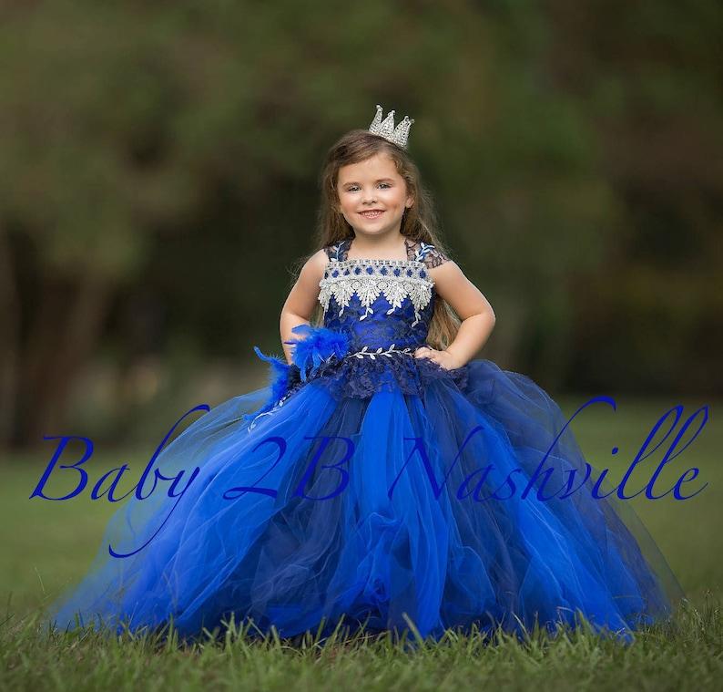 3957cd7d60f Royal Dress Flower Girl Dress Navy Dress Lace Dress Wedding